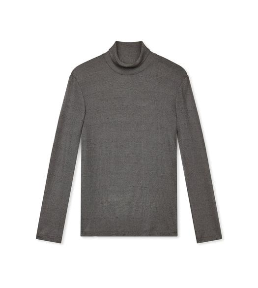 LUREX JERSEY TURTLENECK TOP