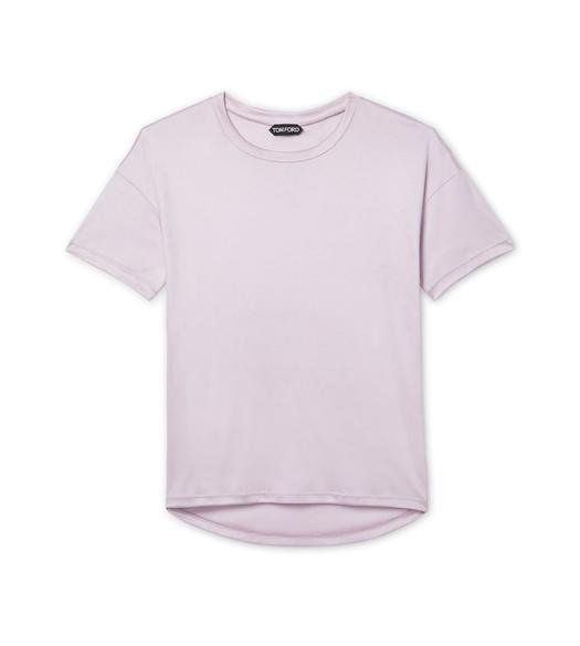 VISCOSE SILK JERSEY T-SHIRT