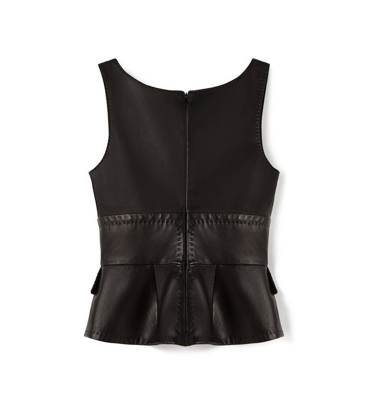 LEATHER TANK TOP WITH PEPLUM B fullsize