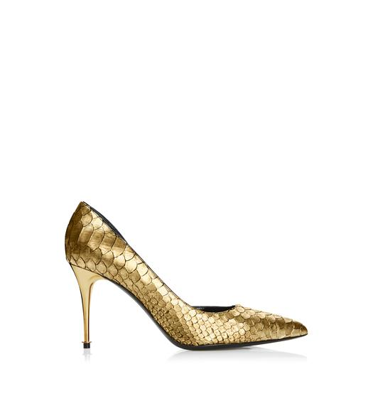 Metallic Gold High Heels Fs Heel