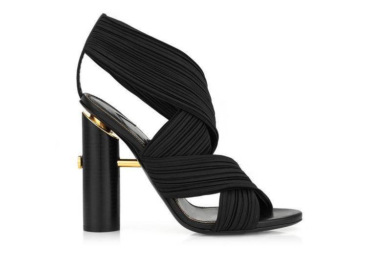 PLEATED WRAP SANDAL A fullsize