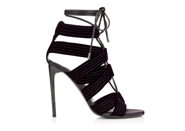 LACE UP PLUM CAGE HEEL A fullsize