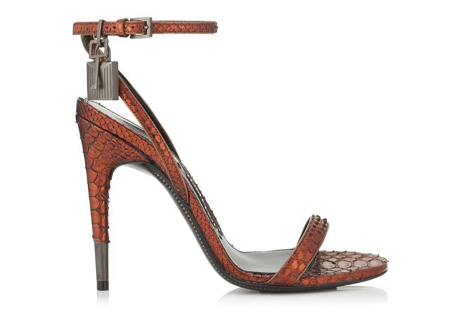outlet low shipping fee Tom Ford Metallic Python Sandals sale perfect free shipping best prices 5vcyhpC