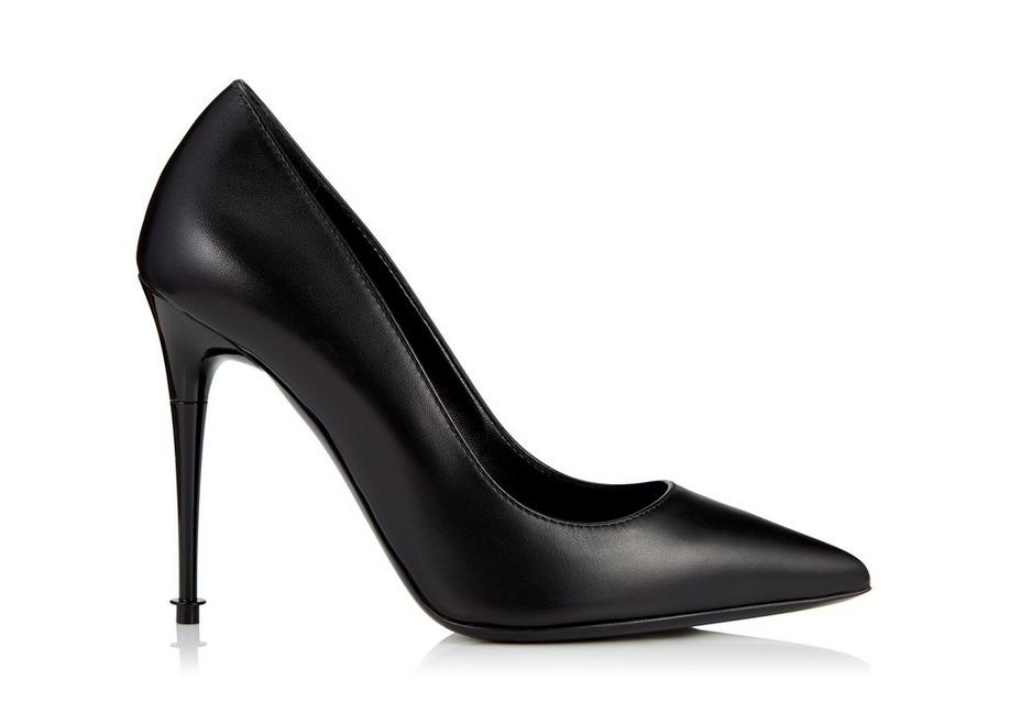 LACQUERED STACK HEEL PUMP A fullsize