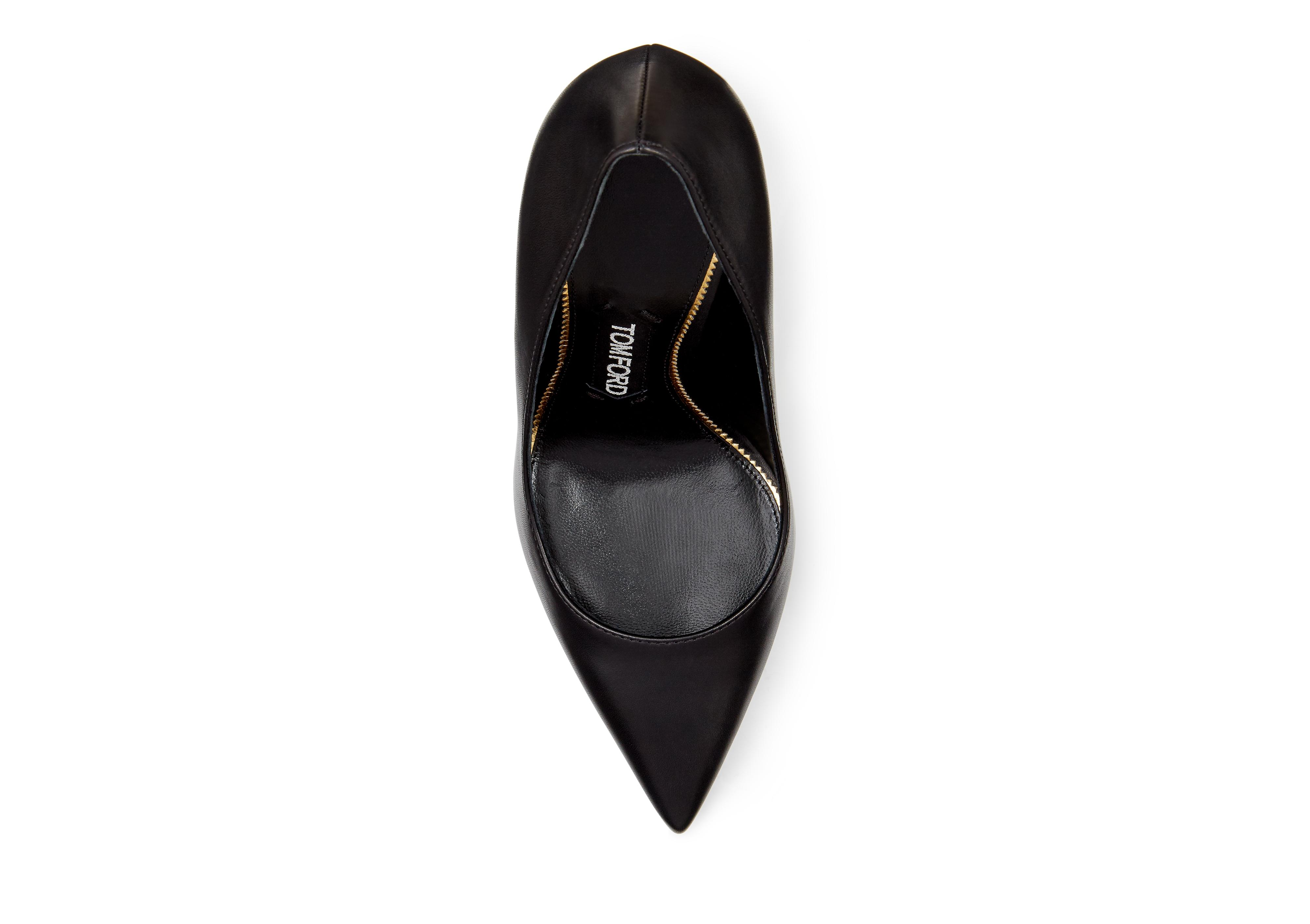 LACQUERED STACK HEEL PUMP D thumbnail