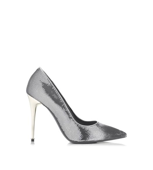 SILVER SEQUIN PUMP