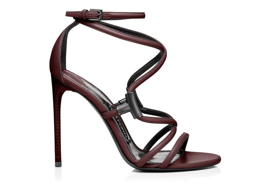 LEATHER T BAR STRAPPY SANDAL A fullsize