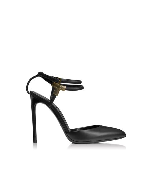 LEATHER T BAR CLOSED TOE SANDAL