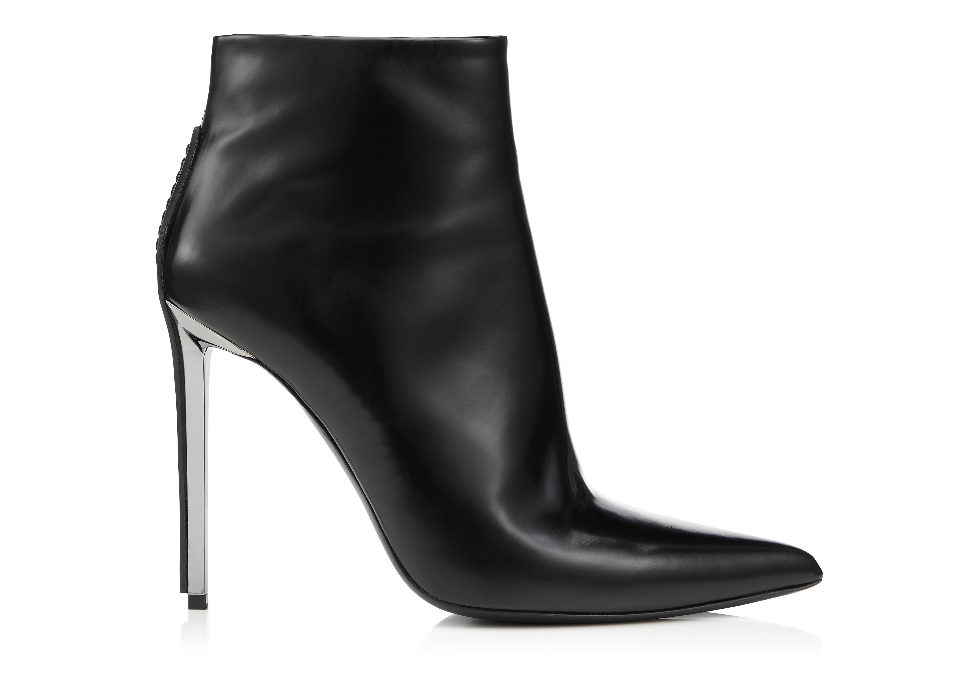 METAL HEEL ANKLE BOOT A thumbnail