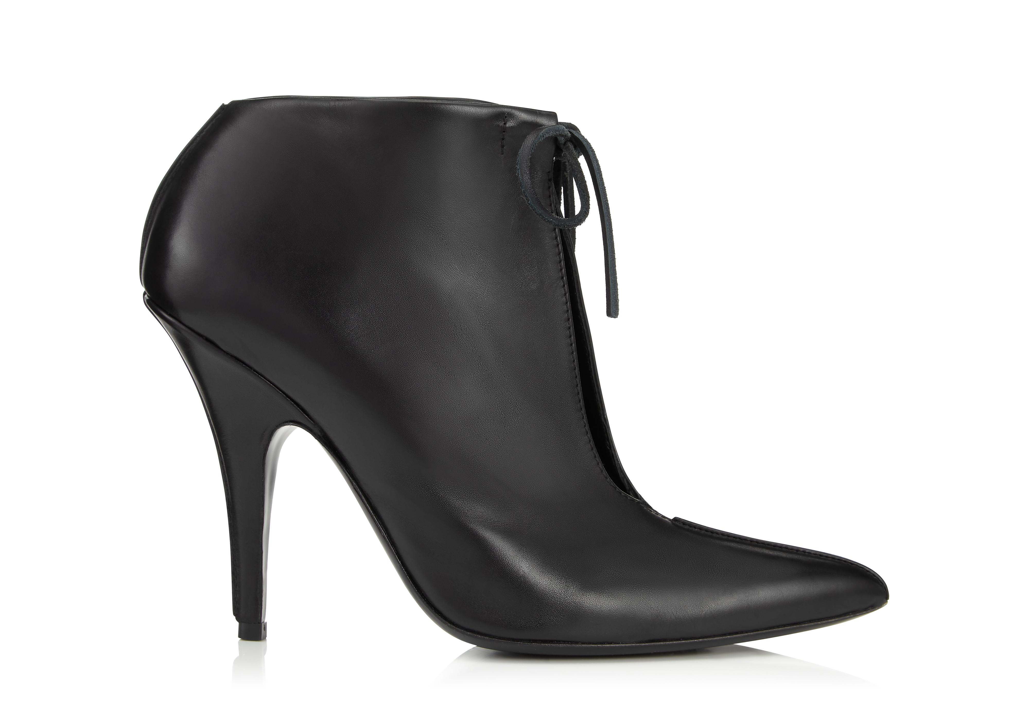 LEATHER ELLIPSE ANKLE BOOT A thumbnail