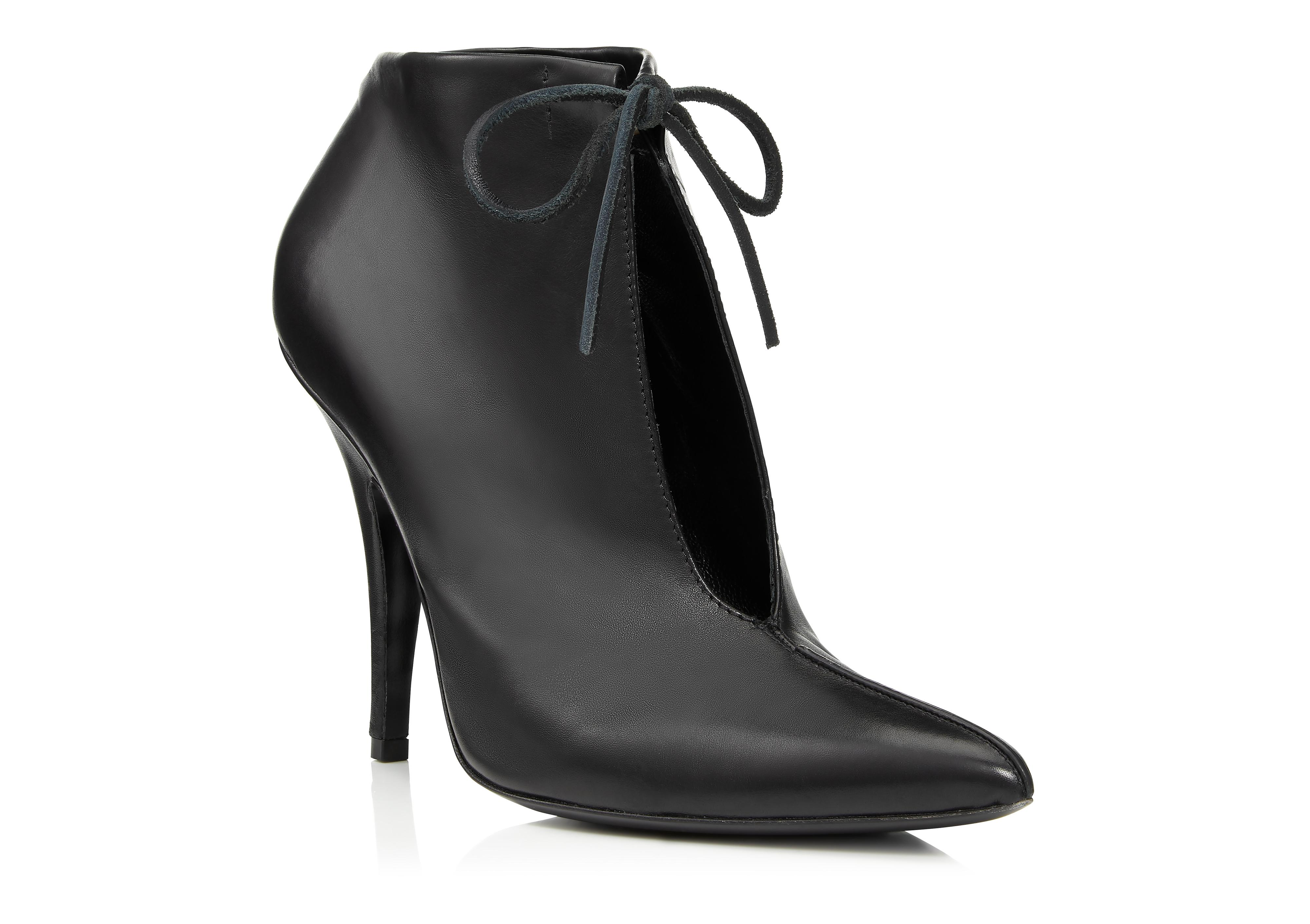 LEATHER ELLIPSE ANKLE BOOT B thumbnail
