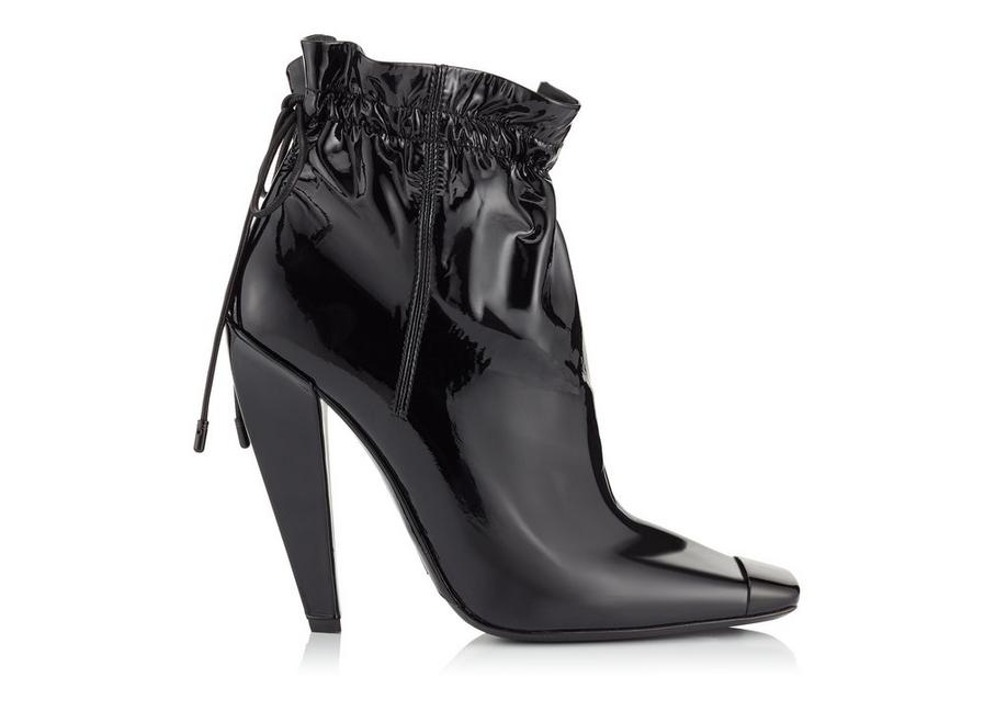PATENT LEATHER COULISSE ANKLE BOOT A fullsize