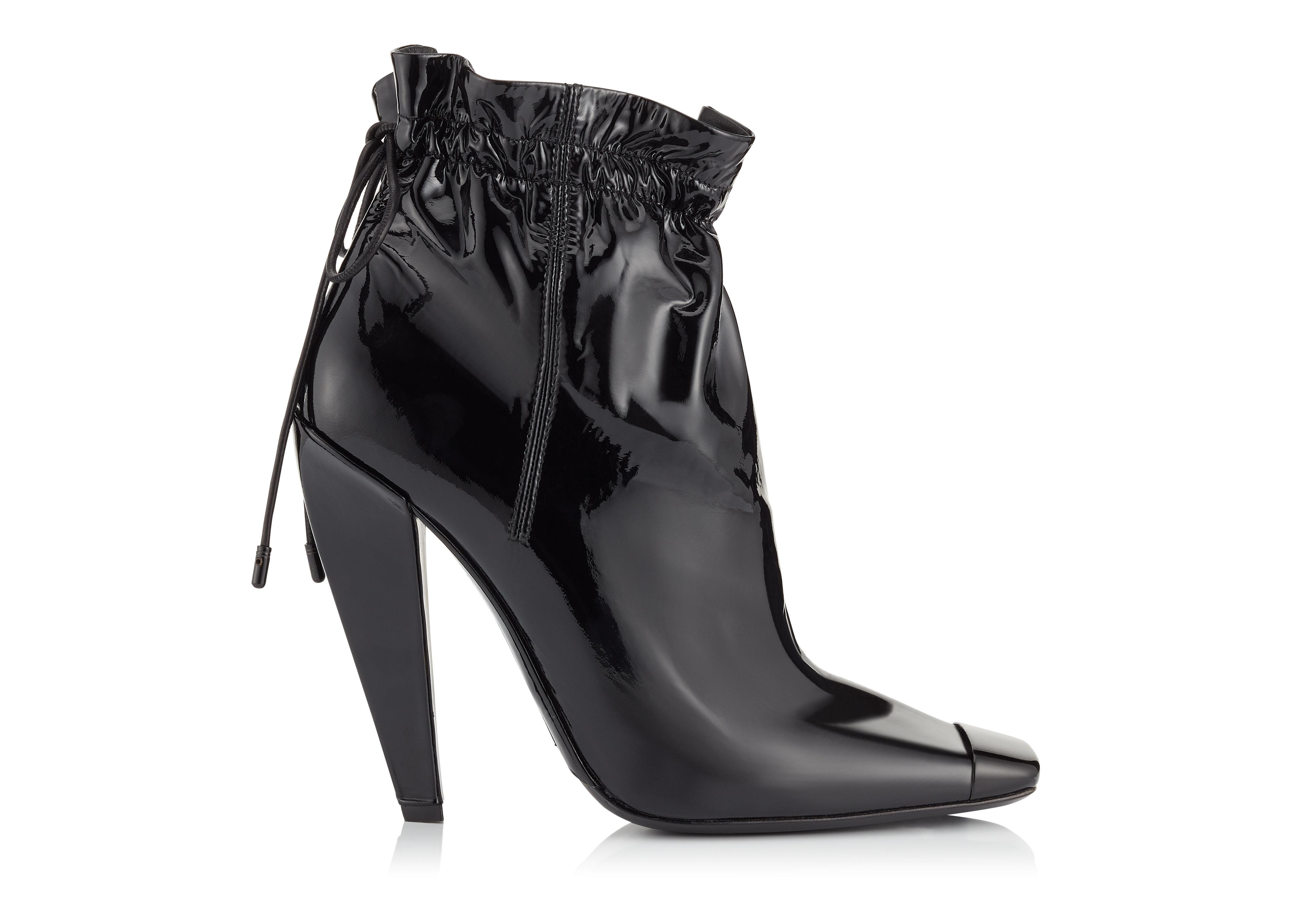 PATENT LEATHER COULISSE ANKLE BOOT A thumbnail
