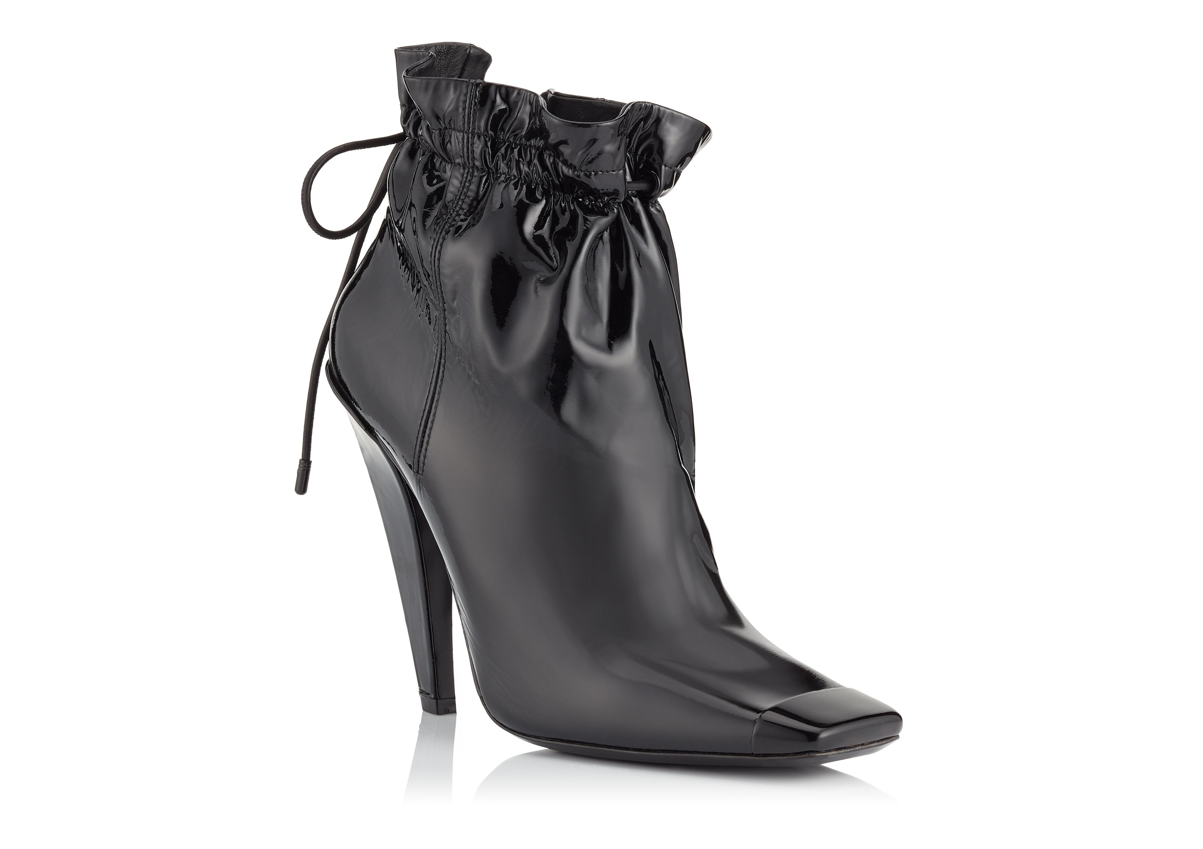 PATENT LEATHER COULISSE ANKLE BOOT B thumbnail