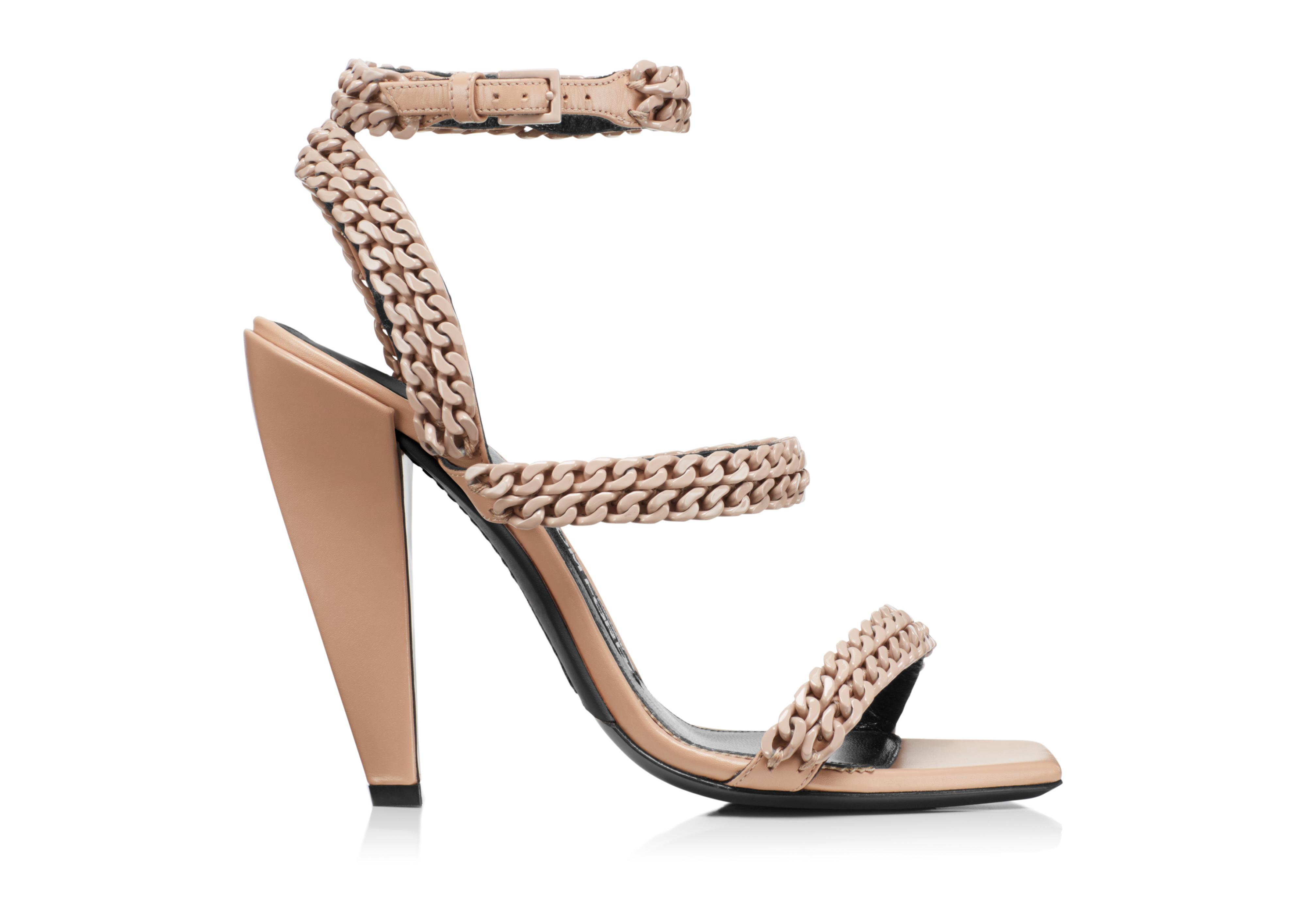 SQUARE TOE CHAIN SANDAL A thumbnail