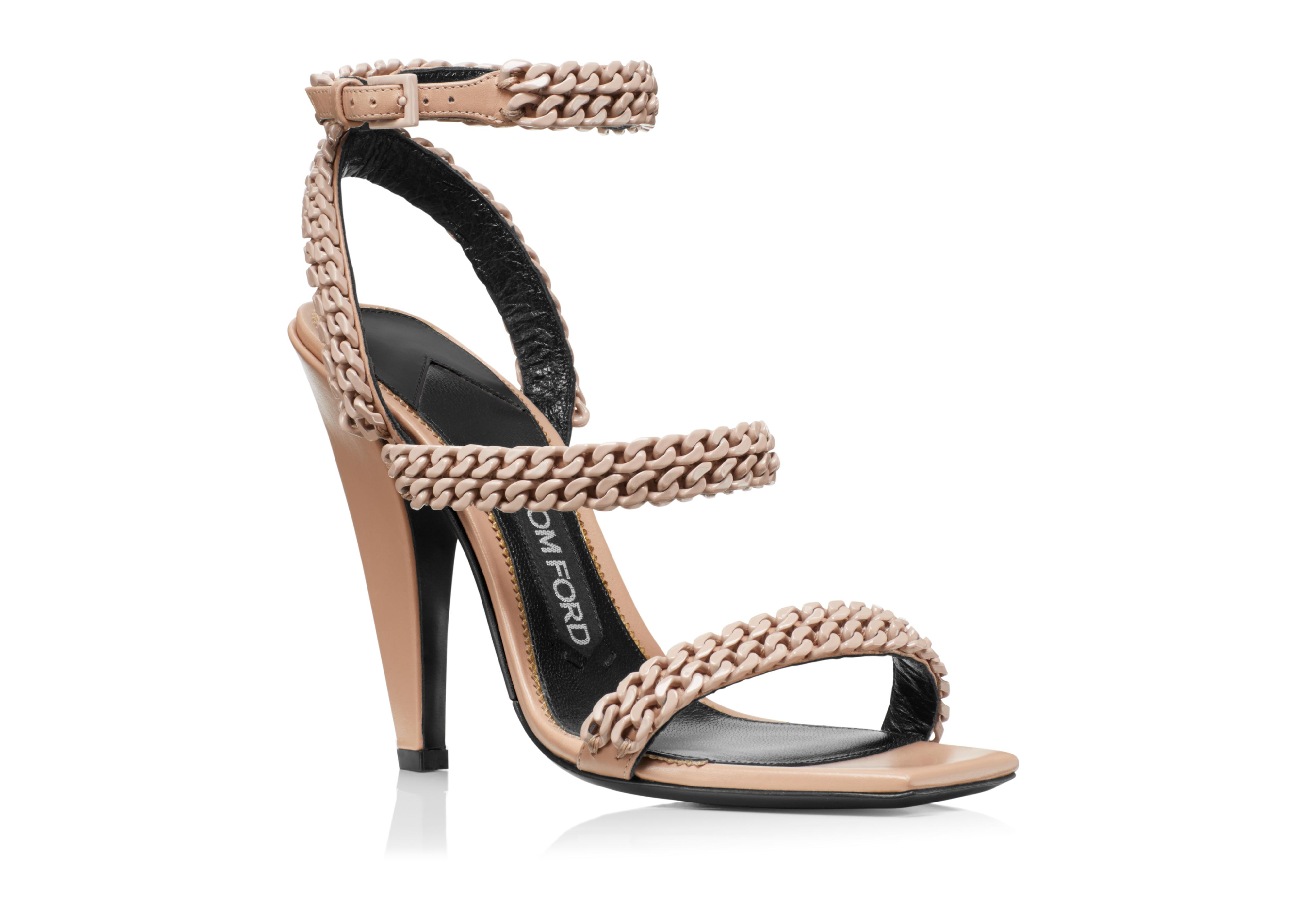 SQUARE TOE CHAIN SANDAL B thumbnail