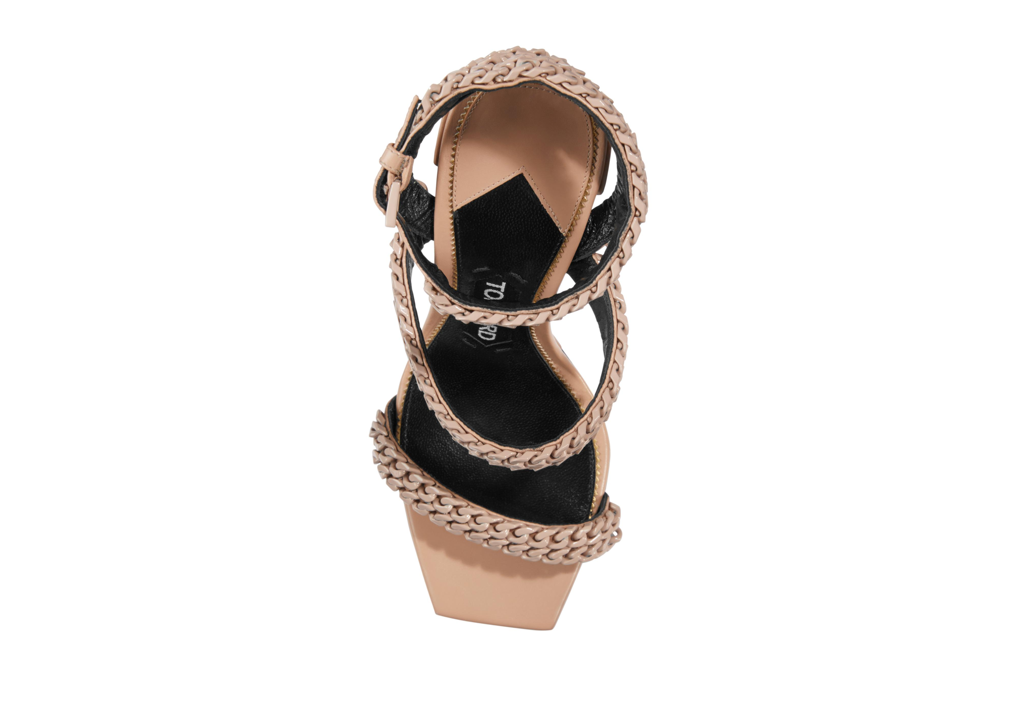 SQUARE TOE CHAIN SANDAL D thumbnail