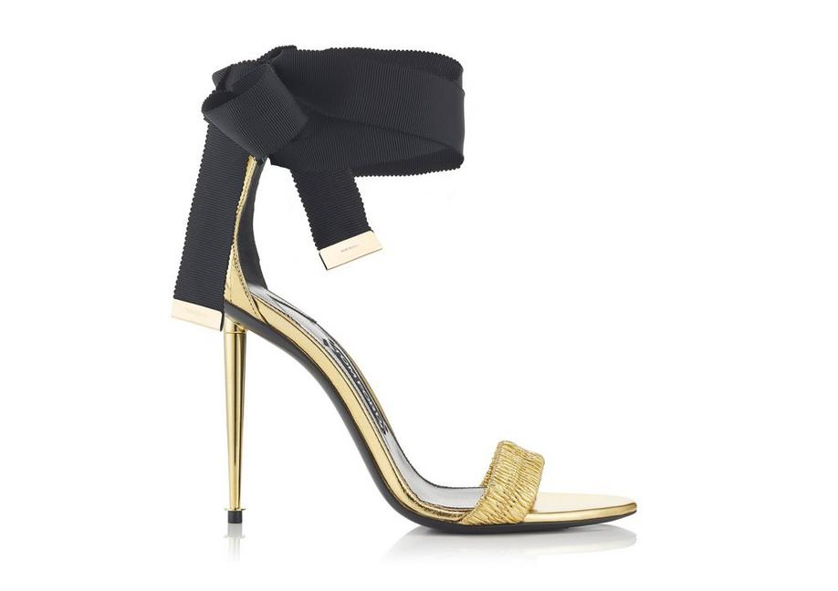 2de139e8cd3 Tom Ford RUCHED ANKLE TIE SANDAL