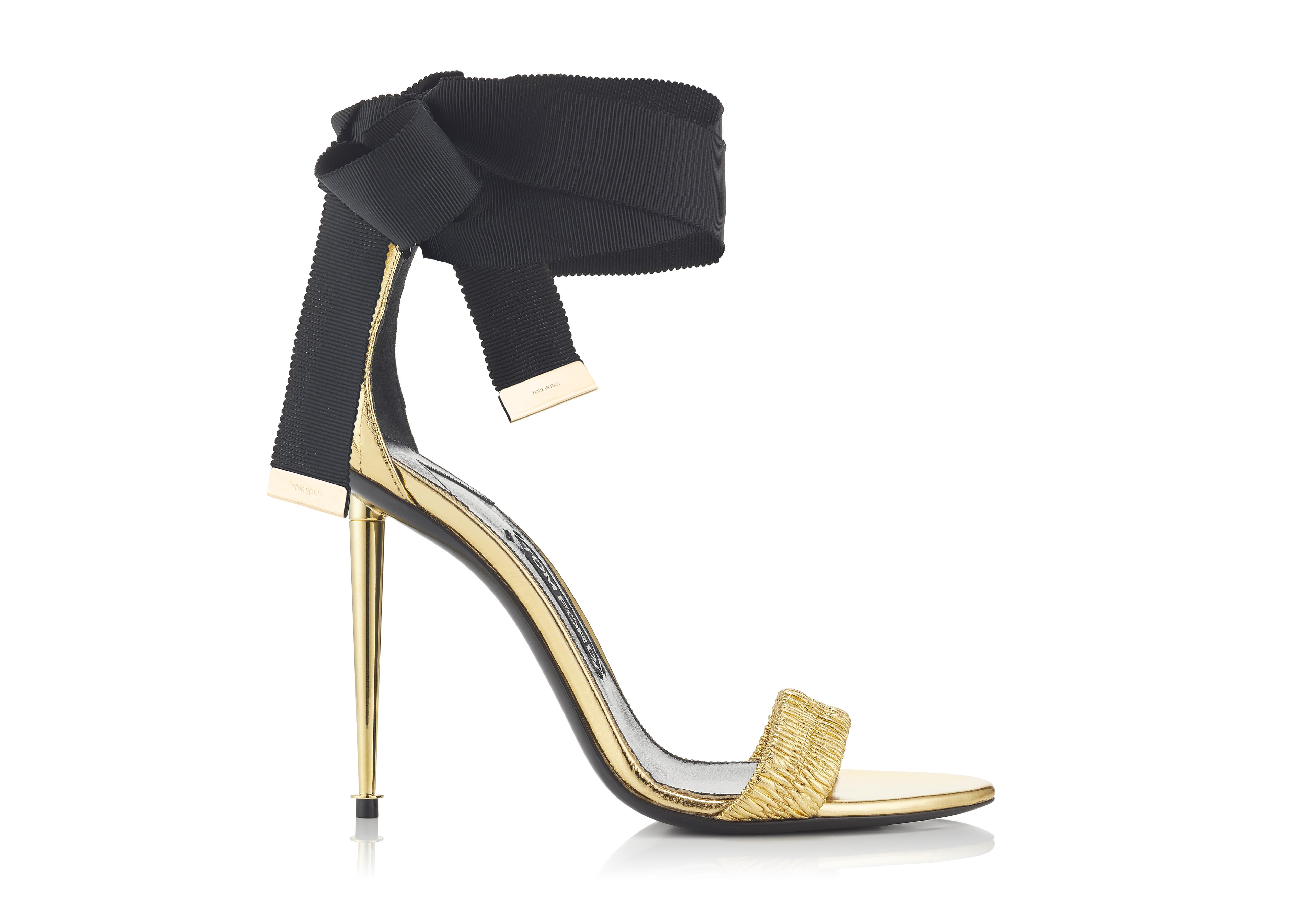 RUCHED ANKLE TIE SANDAL A thumbnail