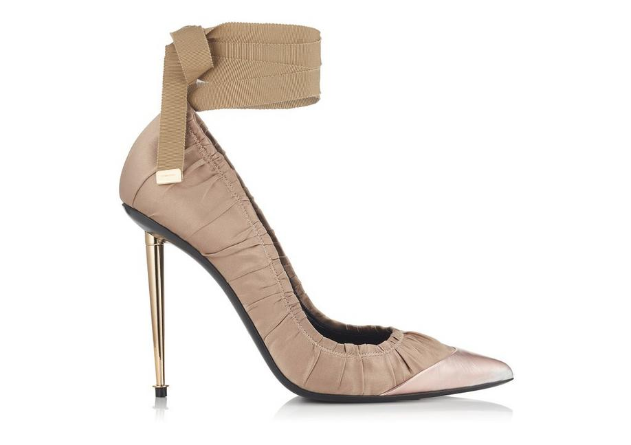RUCHED ANKLE TIE PUMP A fullsize