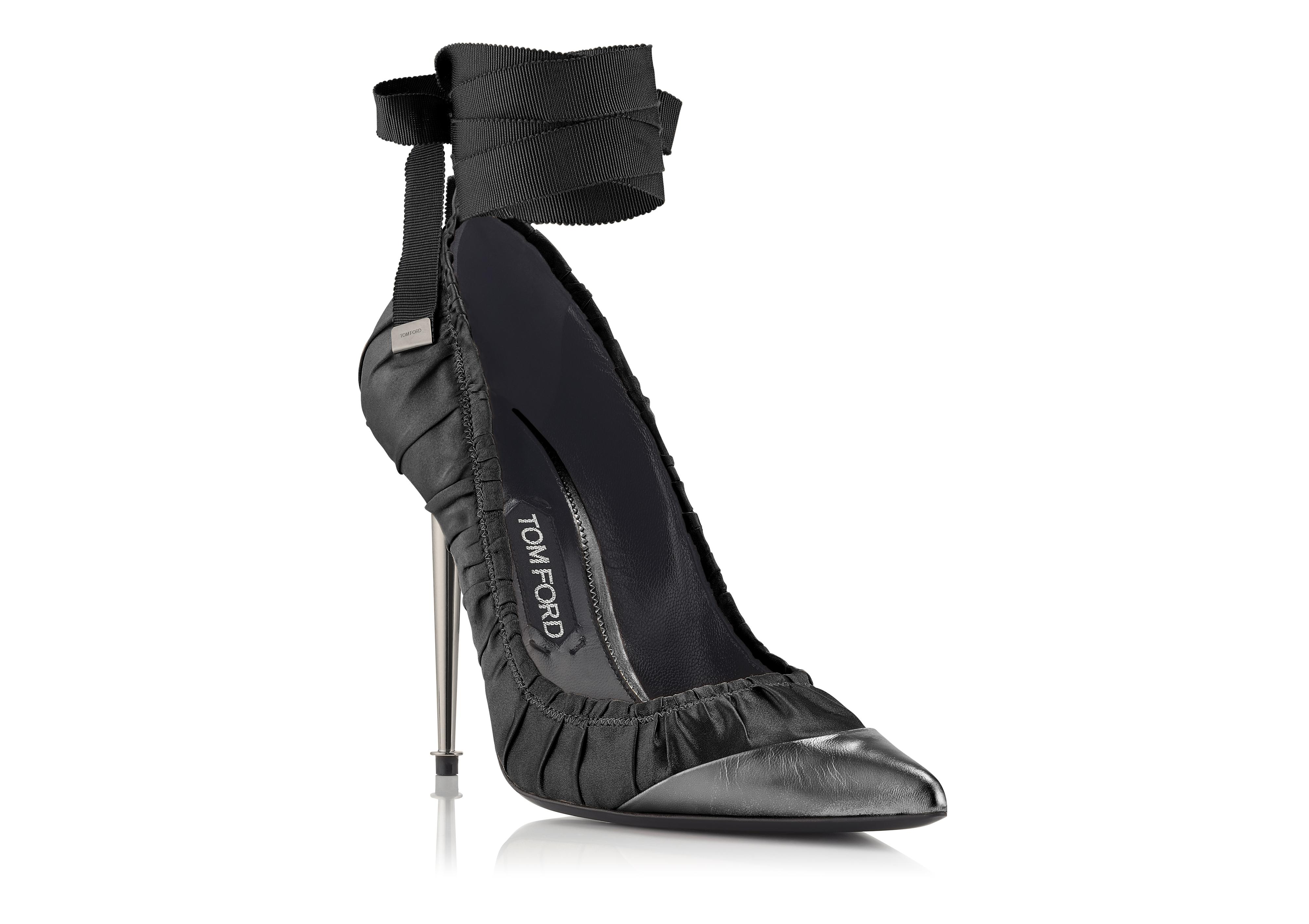 RUCHED ANKLE TIE PUMP B thumbnail