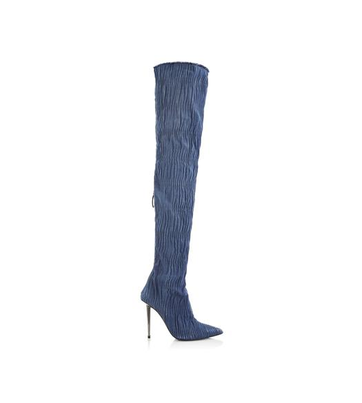 DENIM OVER THE KNEE BOOT