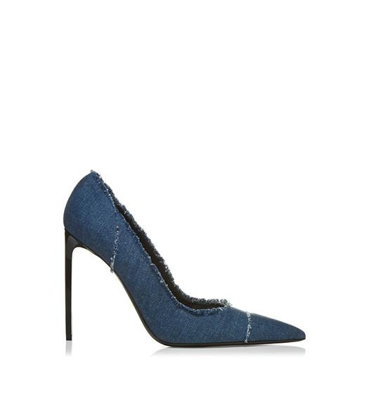 STONE DENIM PUMP