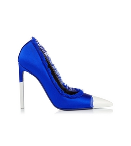 FRAYED SATIN PUMP