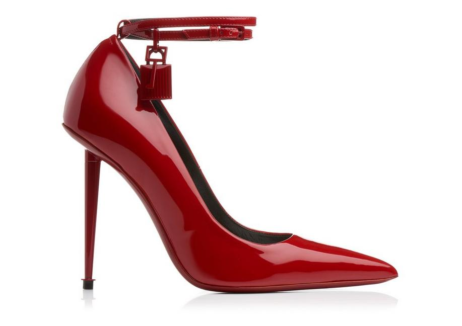 5da1ae8492d Tom Ford LACQUERED PATENT PADLOCK PUMP