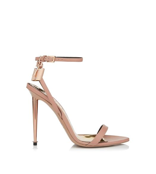 ROSE GOLD PADLOCK NAKED SANDAL