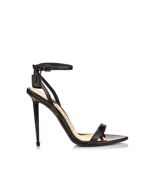 LACQUERED PADLOCK SANDAL