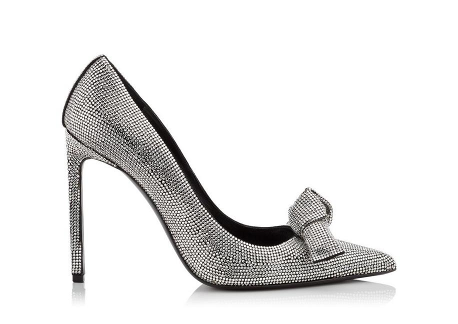 EMBROIDERED CRYSTAL BOW PUMP A fullsize
