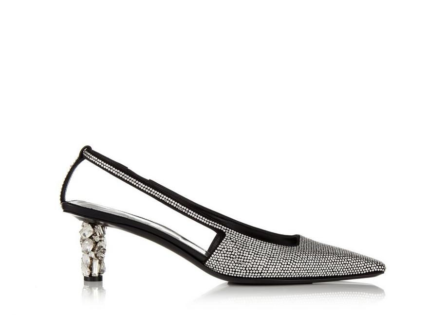 CRYSTAL EMBROIDERED SLINGBACK A fullsize