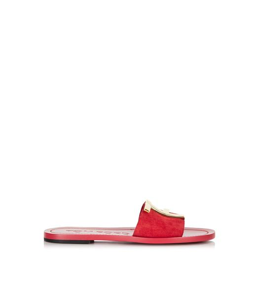 SUEDE TF FLAT SANDAL