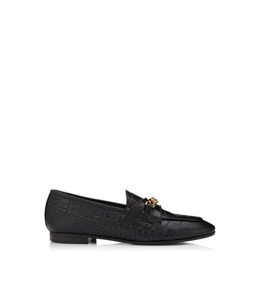 ALLIGATOR CHAIN LOAFERS