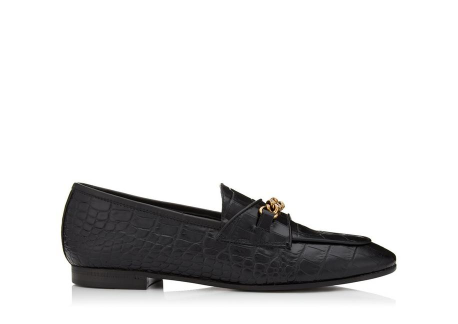 ALLIGATOR CHAIN LOAFERS A fullsize