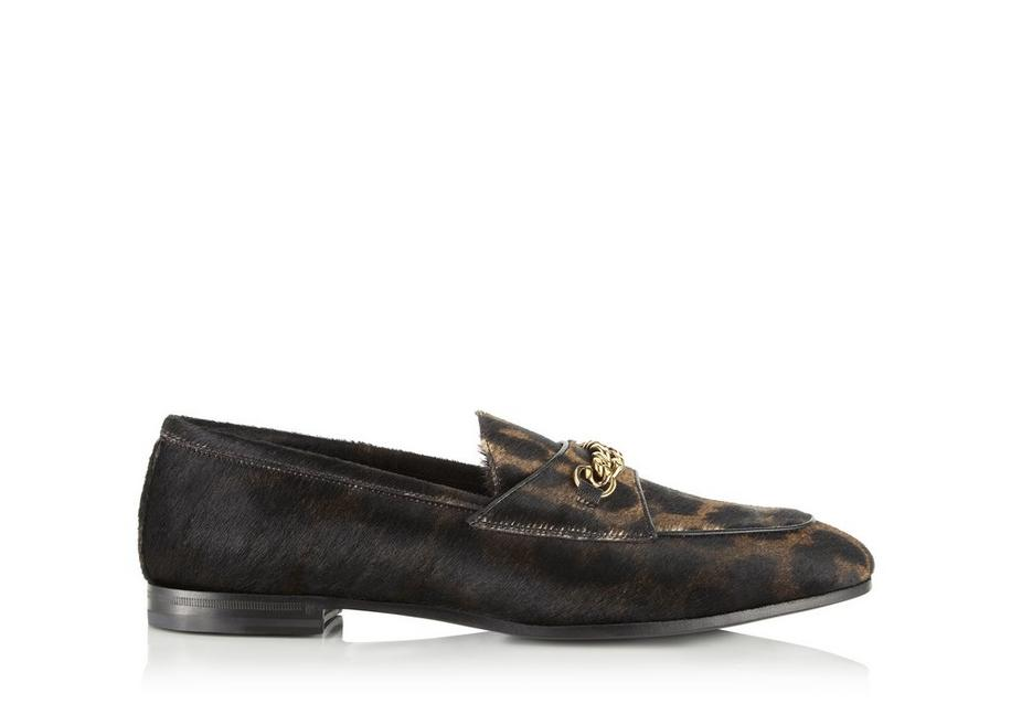 LEOPARD PONY HAIR CHAIN LOAFERS A fullsize