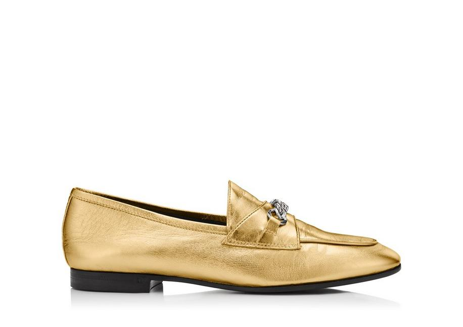 LAMINATED CHAIN LOAFERS A fullsize