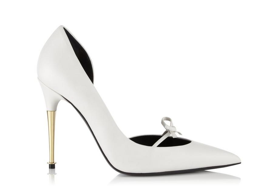LEATHER BOW D'ORSAY PUMP A fullsize