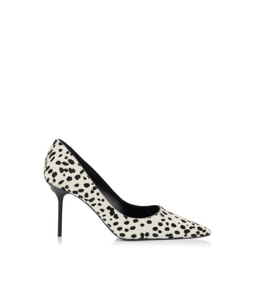 DOTTED PONY HAIR CLASSIC PUMP