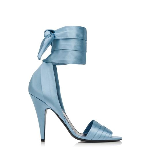 SILK SATIN ANKLE WRAP SANDAL