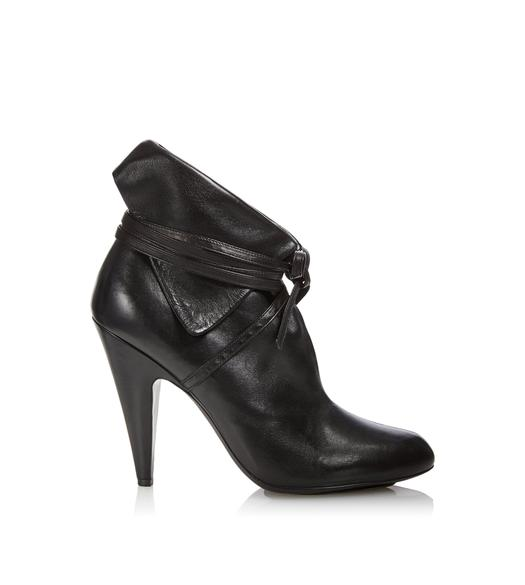 NAPPA LEATHER WRAP BOOTIE