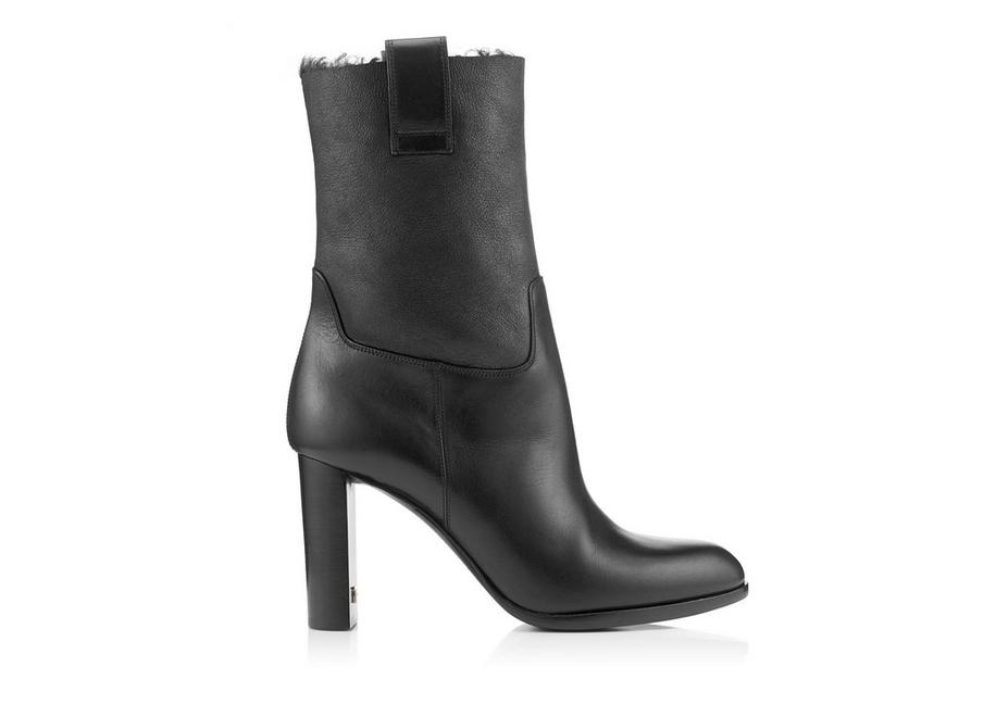 LEATHER AND SHEARLING TF ANKLE BOOT 85 MM A fullsize