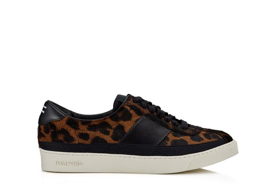 LEOPARD PRINT BANNISTER LOW TOP SNEAKERS A fullsize