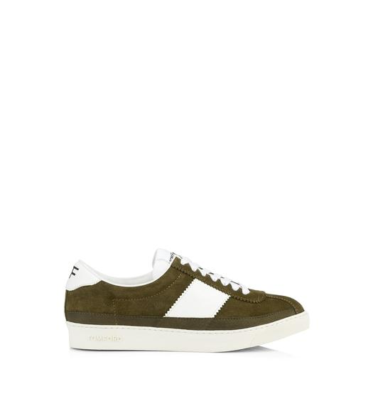 SUEDE BANNISTER LOW TOP SNEAKERS