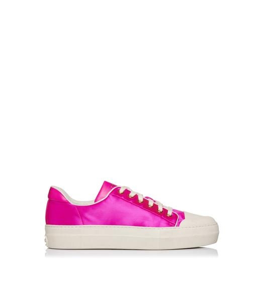 SATIN CITY LOW TOP SNEAKERS