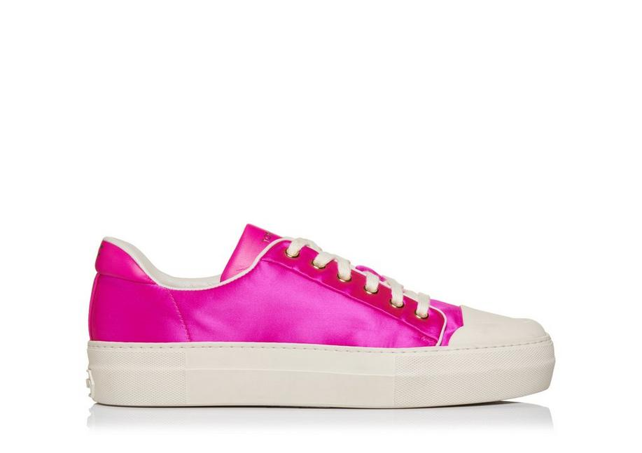 SATIN CITY LOW TOP SNEAKERS A fullsize