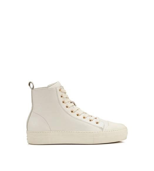 SMOOTH LEATHER CITY HIGH TOP SNEAKERS
