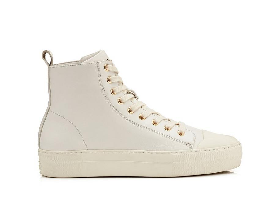 SMOOTH LEATHER CITY HIGH TOP SNEAKERS A fullsize