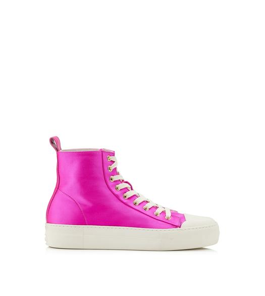 SATIN CITY HIGH TOP SNEAKERS